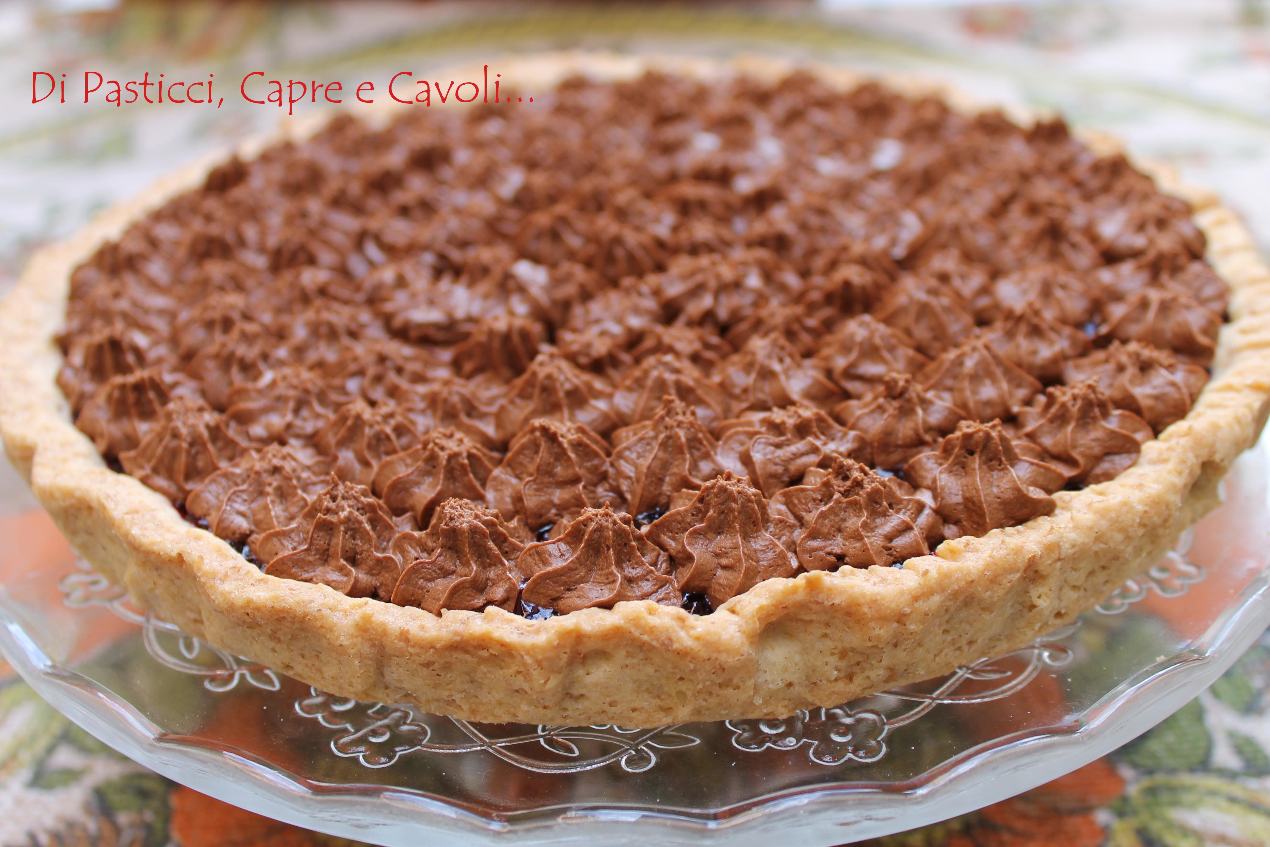 Crostata integrale alle More con Ganache al cioccolato