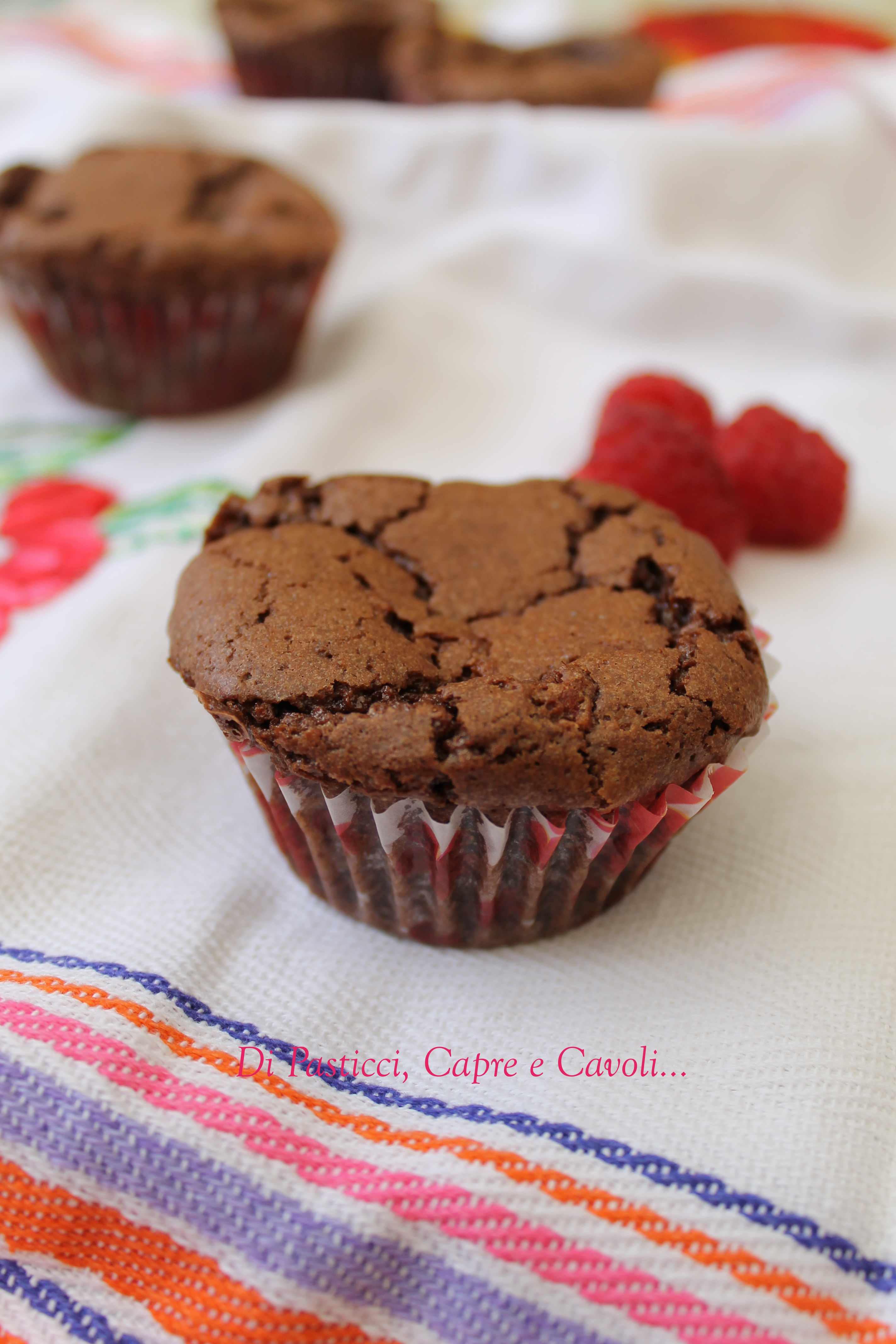 Muffin Brownies ai Lamponi