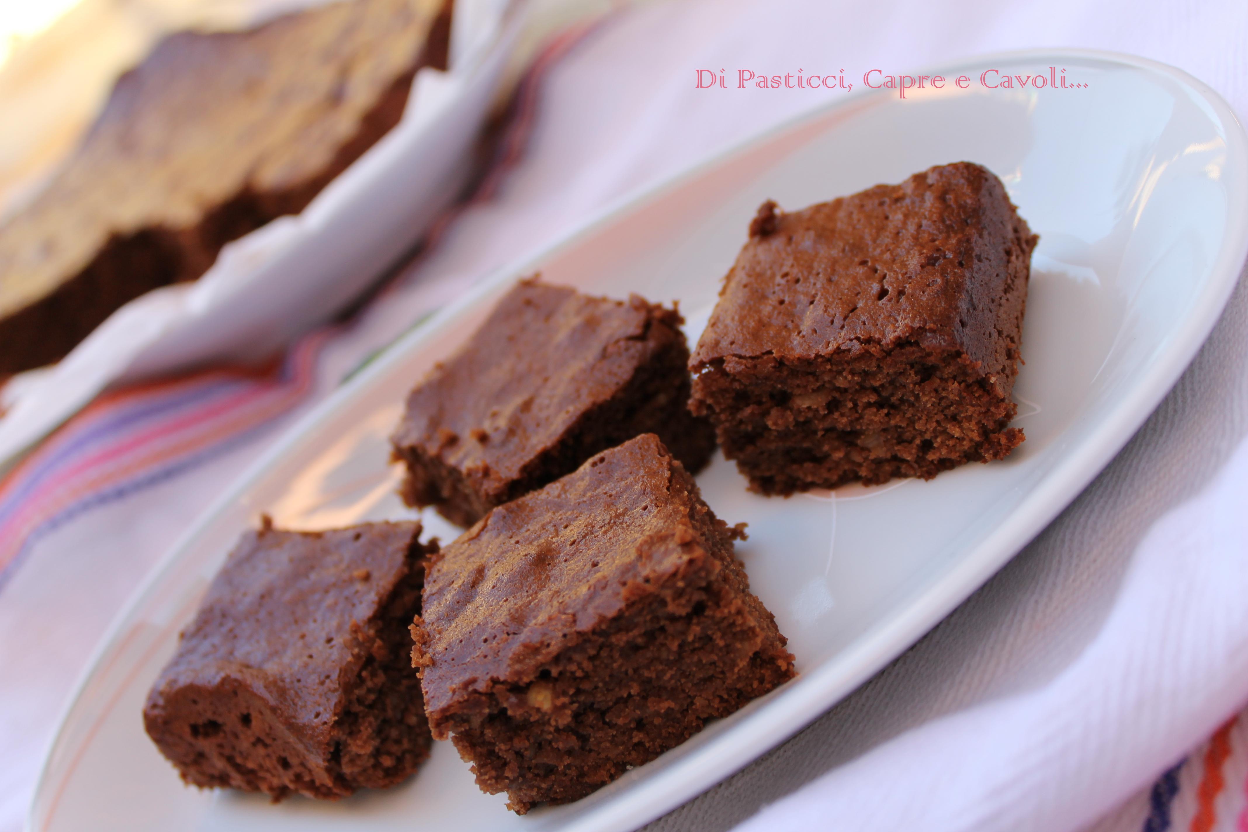 Brownies con Miele e Noci