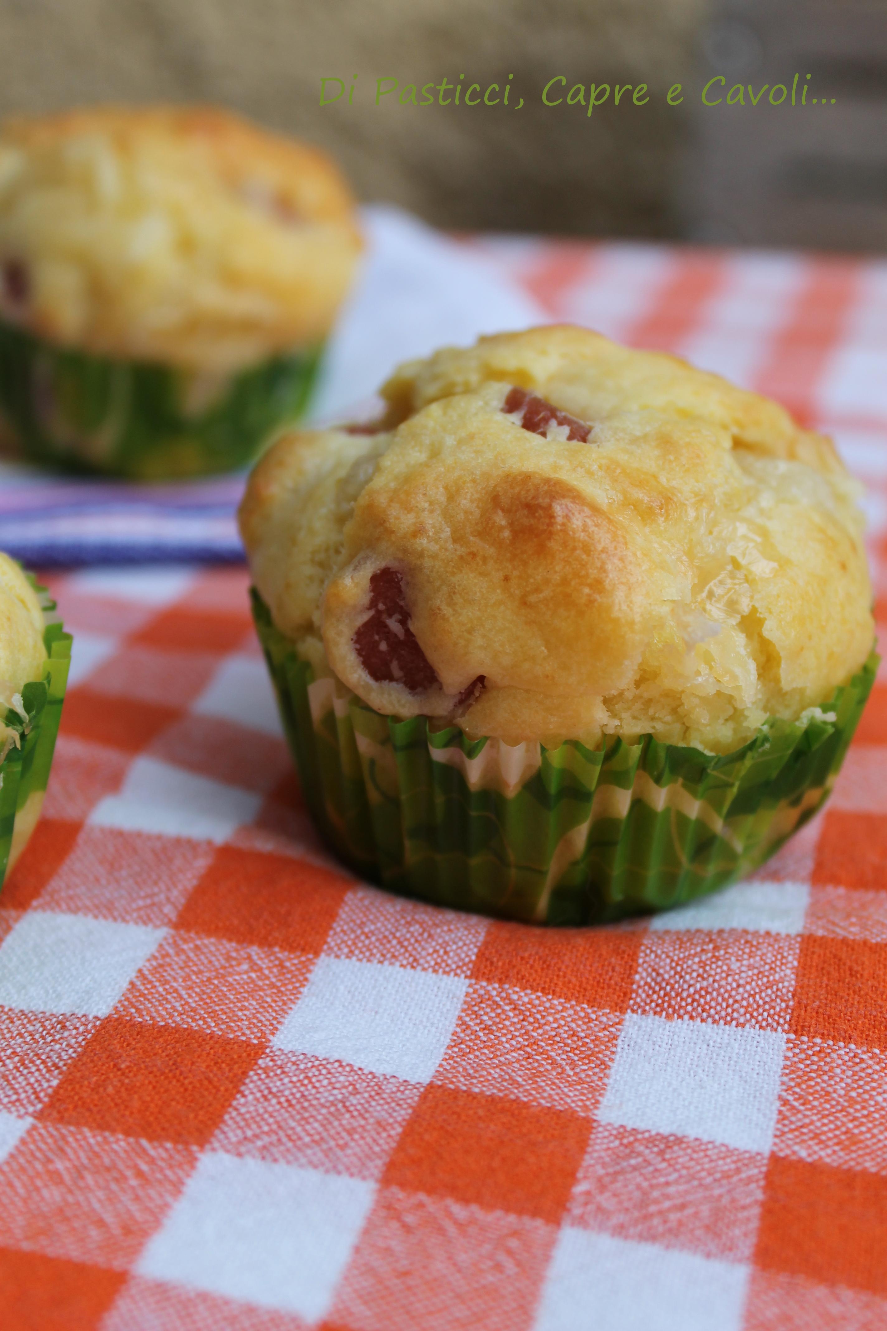 Muffins salati Wurstel e Fontina